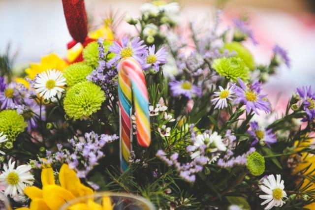 חתונת קונספט - יריד אמריקאי - סידור פרחים