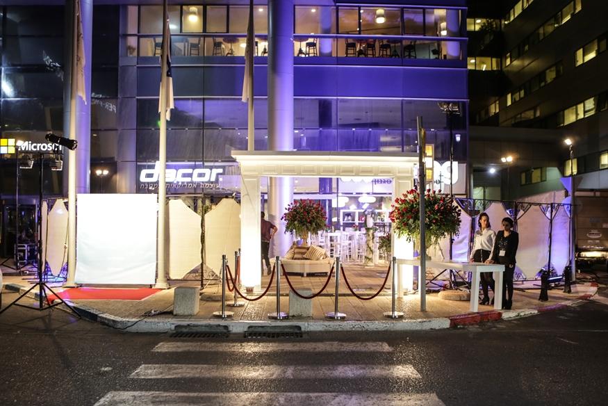אירוע עסקי - השקת מוצר - סמאג - שער כניסה מואר
