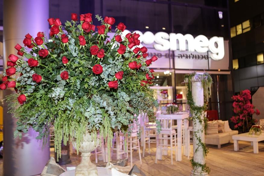 אירוע עסקי - השקת מוצר - סמאג - סידור פרחים